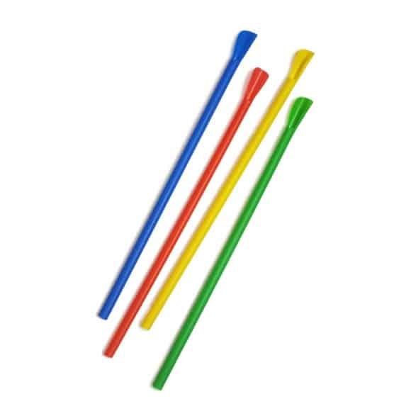 Pailles cuillères multicolores