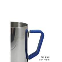 Poignée en silicone bleu pour pot à lait 12oz/350ml