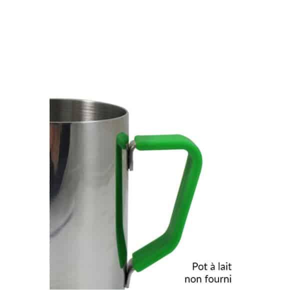 Poignée en silicone vert pour pot à lait 32oz/910ml