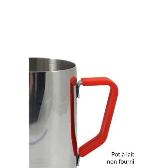 Poignée en silicone rouge pour pot à lait 12oz/350ml