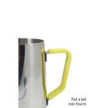 Poignée en silicone jaune pour pot à lait 12oz/350ml