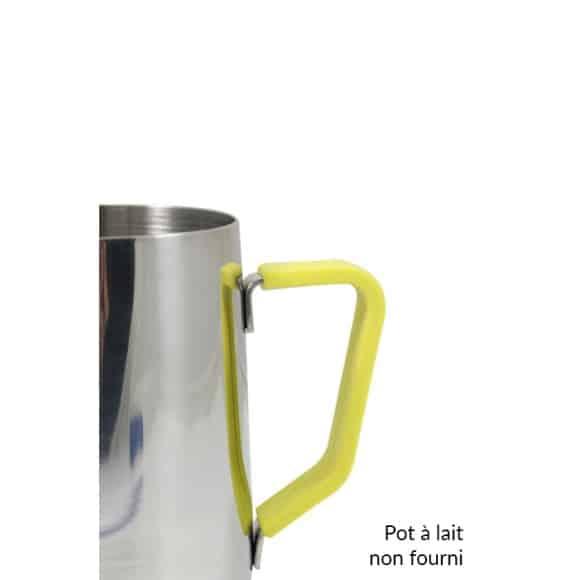Poignée en silicone jaune pour pot à lait 20oz/590ml