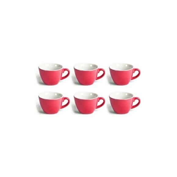 FLAT WHITE tasse porcelaine Rouge 150ml