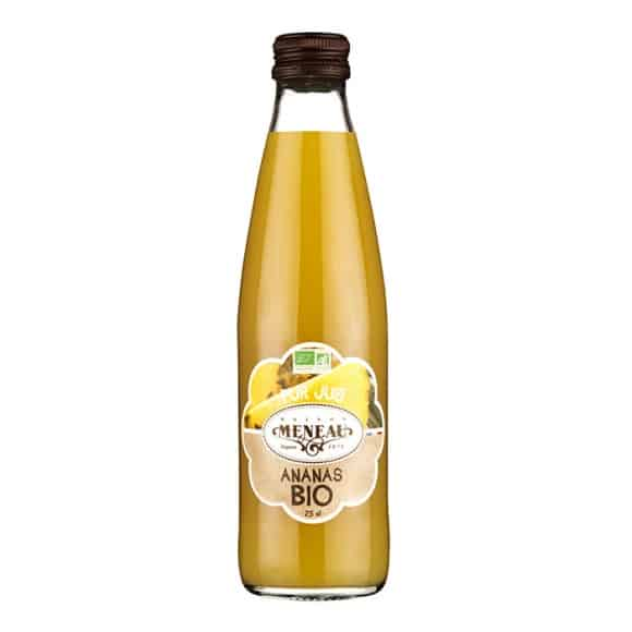jus ananas bouteille verre