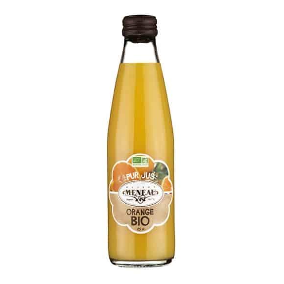 jus orange bouteille verre