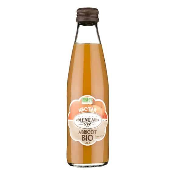 Nectar Abricot bouteille verre 12 x 250ml BIO