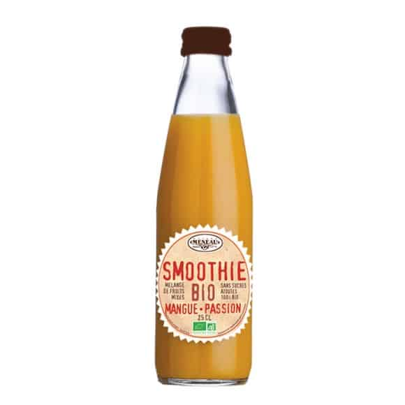 smoothie mangue passion bouteille verre