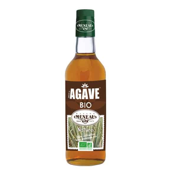 sirop agave bouteille verre