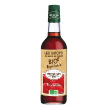 sirop fraise bouteille verre x6