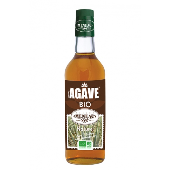 sirop agave bouteille verre x6