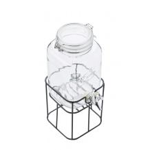 Fontaine à boisson avec robinet métal et support 3.6L