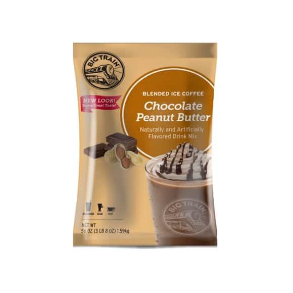 Lot de 5 Frappés Café Chocolat Beurre de cacahuète poche 1.588kg