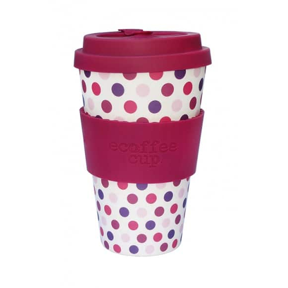 ecoffee cup gobelet bambou pink polka. Black Bedroom Furniture Sets. Home Design Ideas