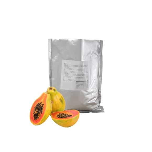 Lot de 20 Poudres Papaye Bubble Tea lait poche 1kg