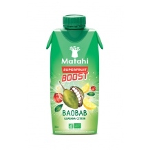 Boisson bio baobab guarana citron tetra pak 12 x 330ml