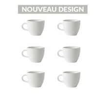 Set x 6 DEMITASSE tasse porcelaine 70ml Blanc