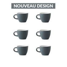 Set x 6 DEMITASSE tasse porcelaine 70ml Gris