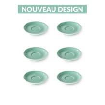 Set x 6 soucoupes porcelaine 110mm Vert
