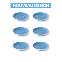 Set x 6 soucoupes porcelaine 140mm Bleu
