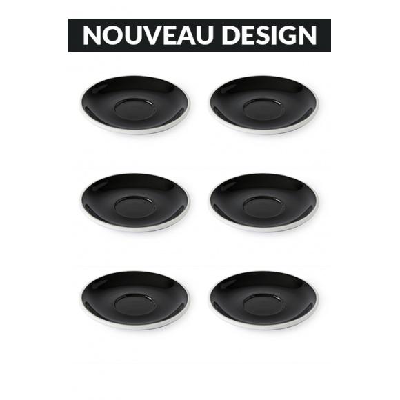 Set x 6 soucoupes porcelaine 140mm Noir
