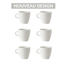 Set x 6 TULIP tasse porcelaine 170ml Blanc
