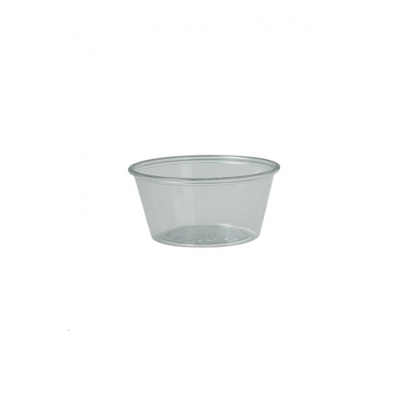 Sachet x 250 pots dégustation PET transparent 3,25oz/96ml