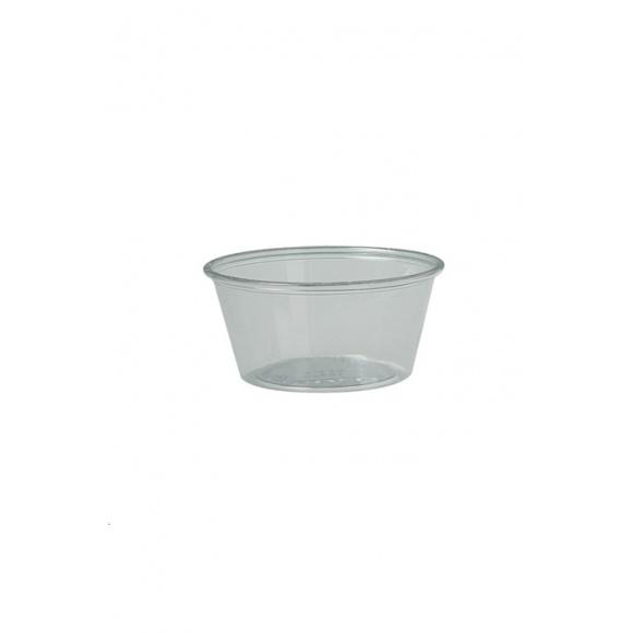 Lot de 10 sachets x 250 pots dégustation PET transparent 3,25oz/96ml