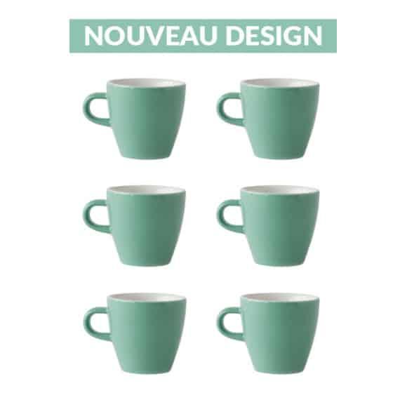 Set x 6 TULIP tasse porcelaine 170ml Vert