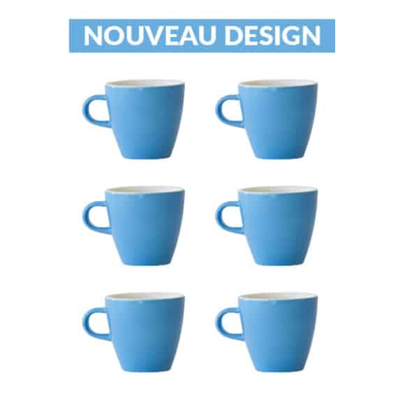 Set x 6 TULIP tasse porcelaine 170ml Bleu