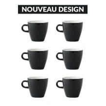 Set x 6 TULIP tasse porcelaine 170ml Noir