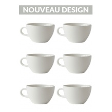 Set x 6 LATTE tasse porcelaine 280ml Blanc