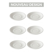 Set x 6 soucoupes porcelaine 150mm Blanc