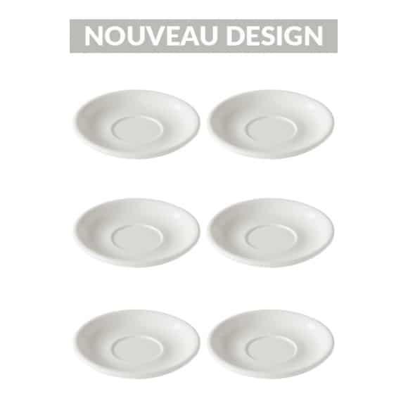 Set x 6 soucoupes porcelaine 150mm Blanc