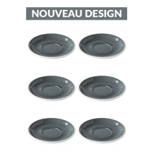 Set x 6 soucoupes porcelaine 150mm Gris