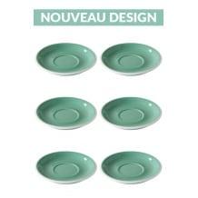 Set x 6 soucoupes porcelaine 150mm Vert