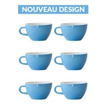 Set x 6 LATTE tasse porcelaine 280ml Bleu