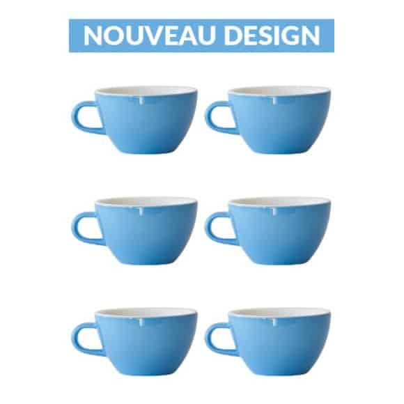 Set x 6 LATTE tasse porcelaine 280ml Bleu
