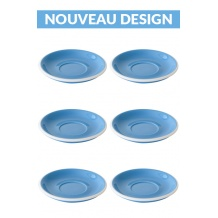 Set x 6 soucoupes porcelaine 150mm Bleu