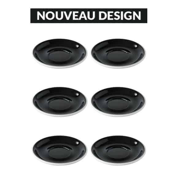 Set x 6 soucoupes porcelaine 150mm Noir