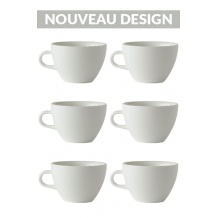 Set x 6 MIGHTY tasse porcelaine 350ml Blanc
