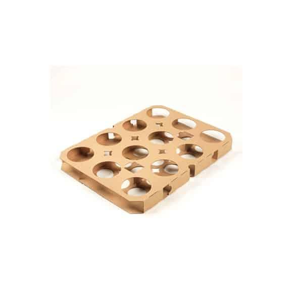 Lot de 10 Plaque de cuisson carton pour muffins x5