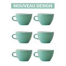 Set x 6 MIGHTY tasse porcelaine 350ml Vert