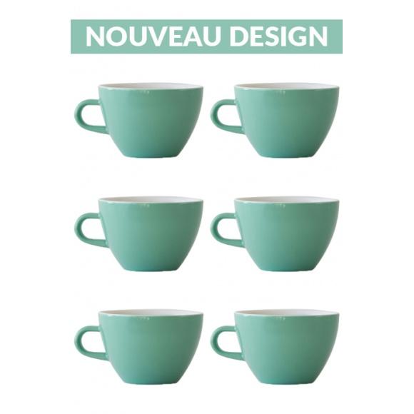 Set x 6 MIGHTY tasse porcelaine 350ml Vert