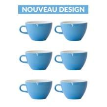 Set x 6 MIGHTY tasse porcelaine 350ml Bleu