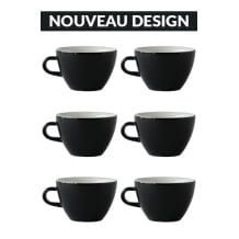 Set x 6 MIGHTY tasse porcelaine 350ml Noir