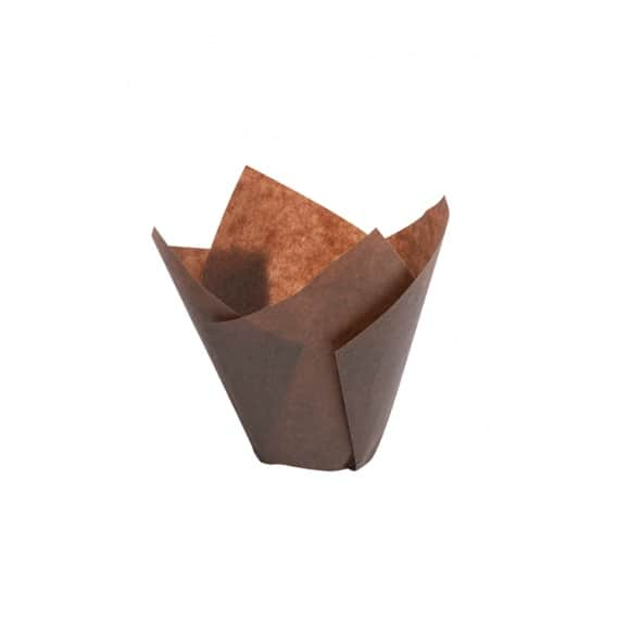 Lot de 10 boîtes 200 caissettes marron pour muffin 85g
