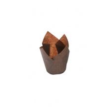 Lot de 10 boîtes 300 caissettes marron pour muffin 40g