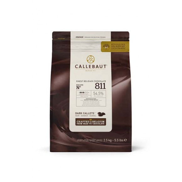 Callets™ 811 Pistoles de chocolat noir poche 2,5kg