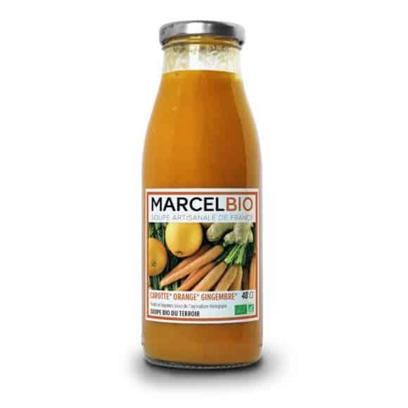 Soupe Carotte Orange Gingembre bouteille verre 12 x 480ml BIO