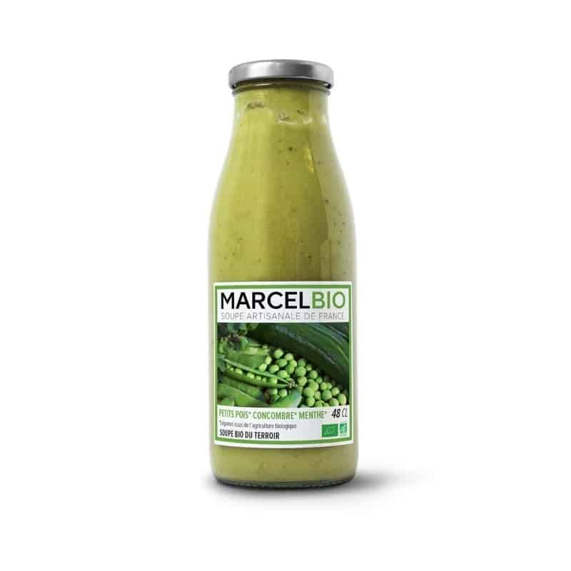 Marcel bio soupe petit pois concombre menthe bio - Soupe petit pois menthe ...